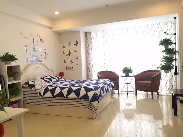 北京昌平地铁十三陵水库琥珀郡酒店式公寓阳光立业情侣主题房