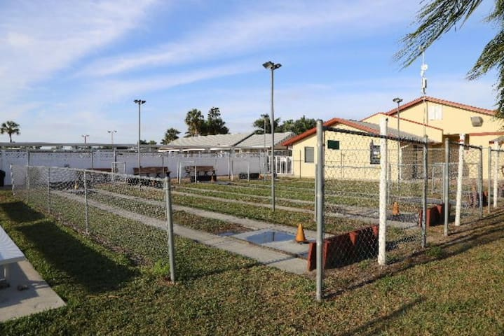 Waterfront, two bedroom, one bath mobile home is located in the 55 and over community of Bayside Estates.