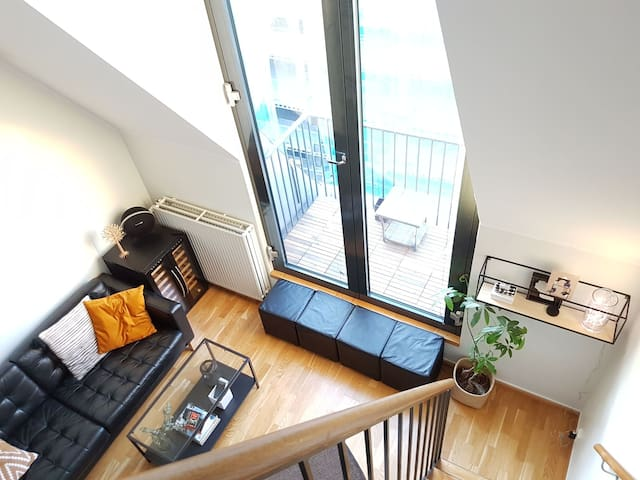 Modern urban two floor studio in the heart of Oslo