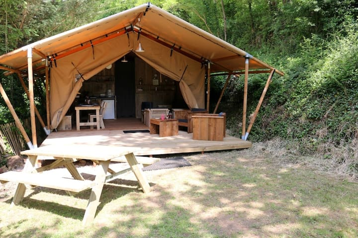 Glamping en Safari tente de luxe dans la nature