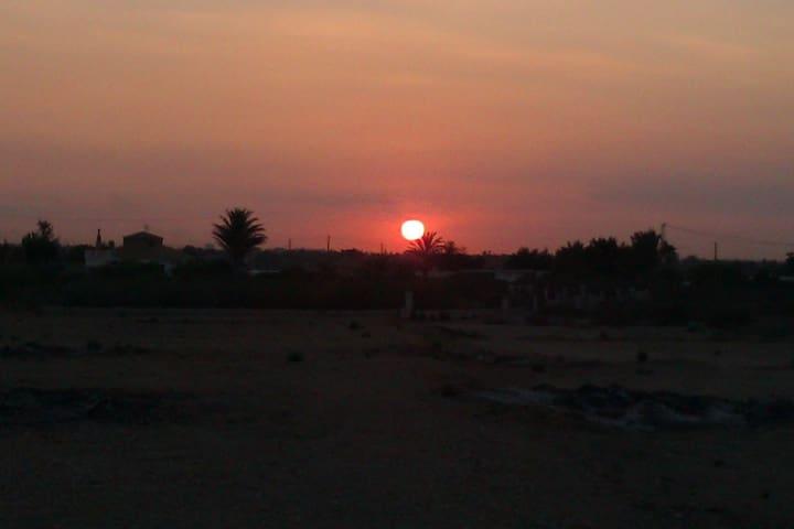 sunset at the finca