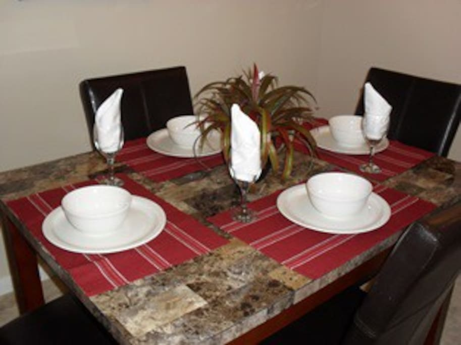 Eat home cooked meals in your very own apartment.