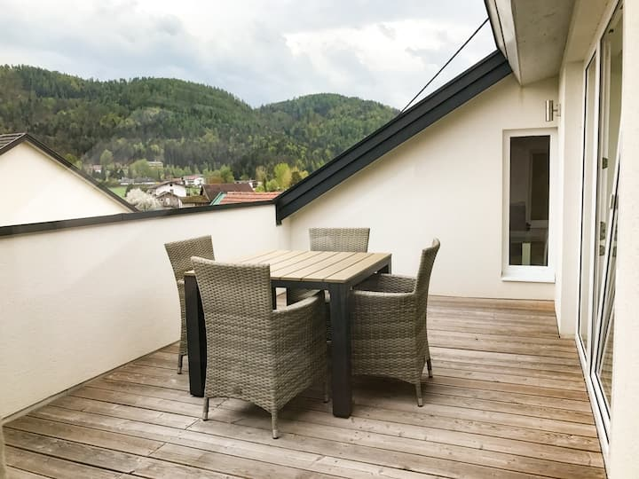 Gemütliches und modernes Dachgeschossstudio