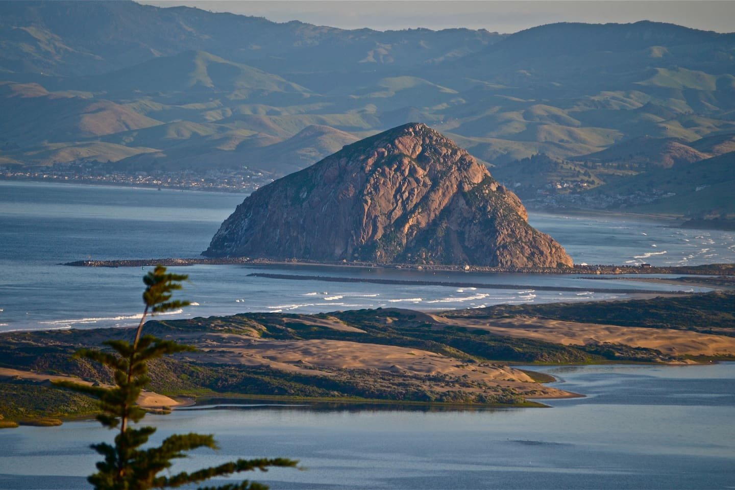 Magnified view of Morro Rock taken from your Suites window.
