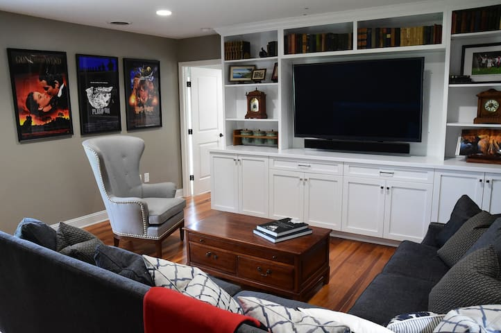 Enjoy watching football games, movies or fun family night in front of this 70 inch screen.