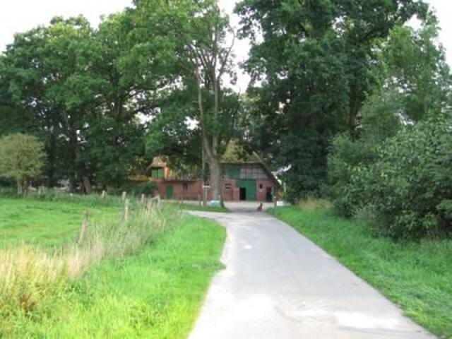 Wohnen auf dem Bioland-Bauernhof - BLAUES ZIMMER