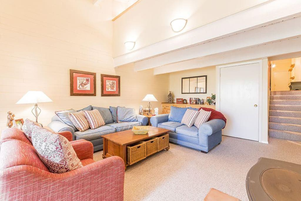 You'll love relaxing here! And there is a sleeper sofa too, for extra sleeping capacity.