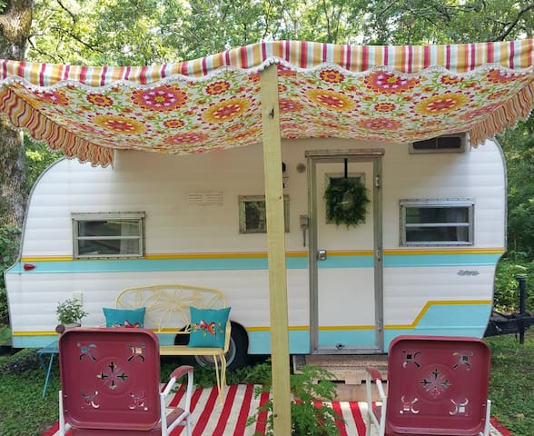 Dragonfly Vintage Camper, A Wooded Retreat!