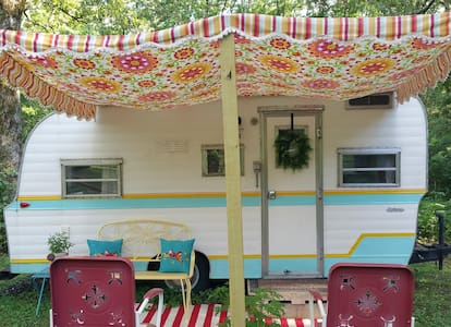 Lovely Dragonfly Vintage Camper!