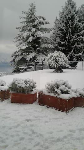 Villa Silvi sotto la neve