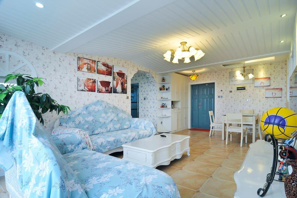 客厅:田园与欧式的完美结合