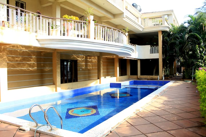 ❤Fabulous 1BHK  With Pool & Wi-Fi Near Baga Beach❤