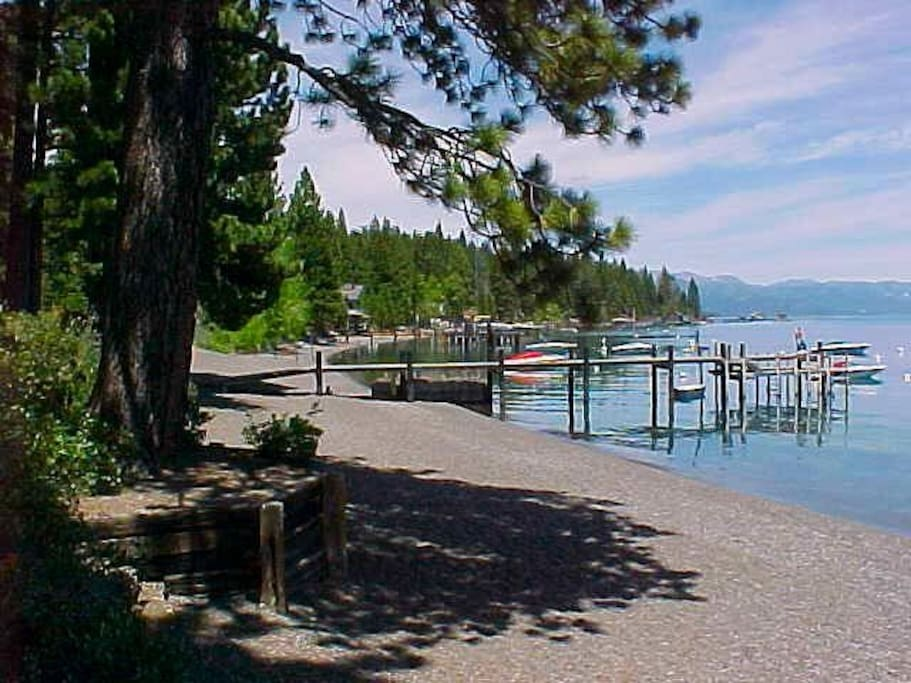 Access to the Lake Tahoe Association Beach just a short 5 minute walk down the street!