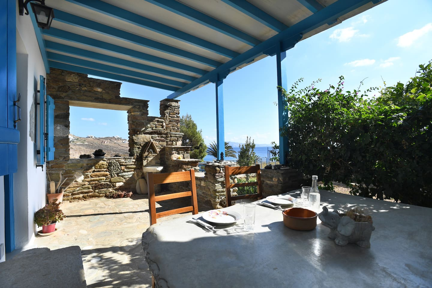 Pergola Maison En L la maison du soleil - houses for rent in tinos