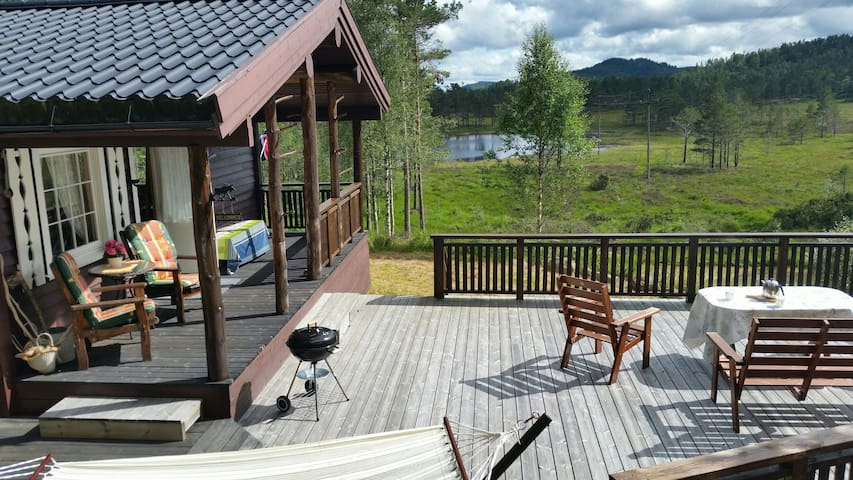 Familiehytte til leie, robåt - Eiken - Apartamento