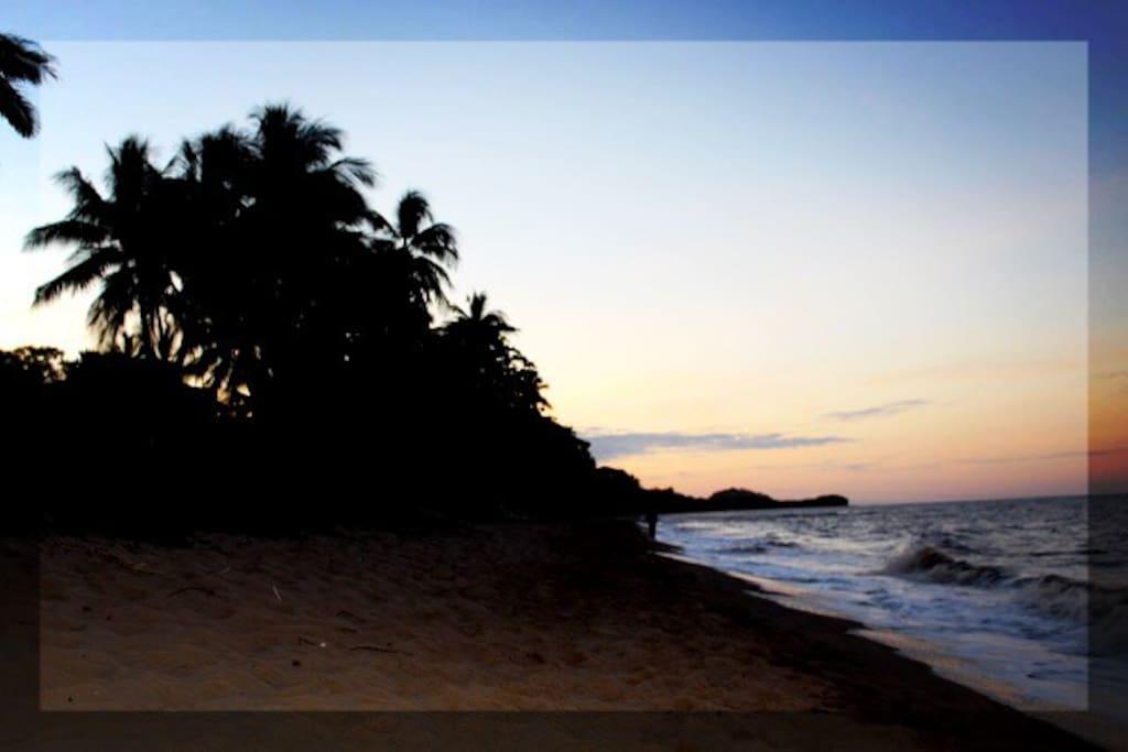 Twilight hour on the beach