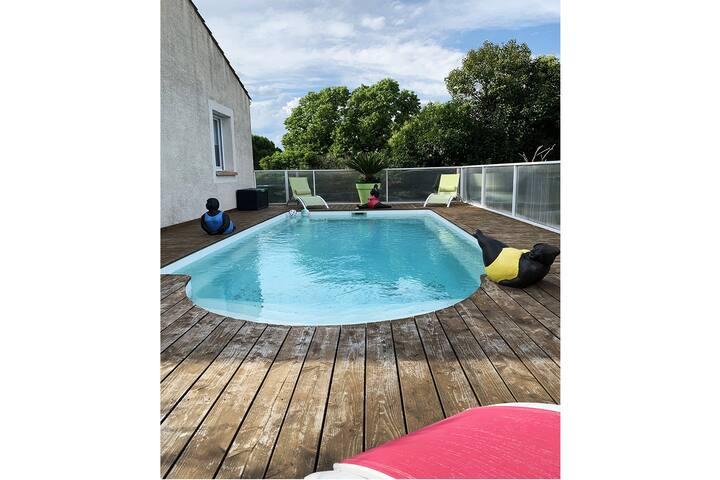 Villa privative climatisée de 120m2 avec piscine