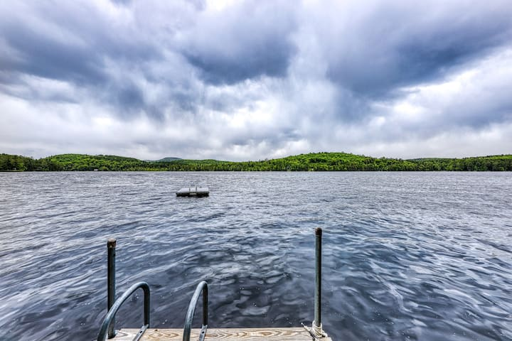NEW LISTING! Beautiful lakefront house with dock, beach, multiple decks