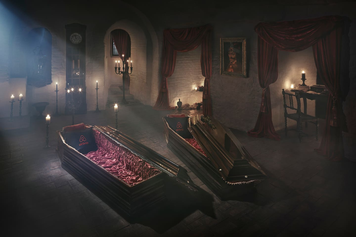 Spend the night in Dracula's vault. The count has generously allowed you to sleep in his coffin.