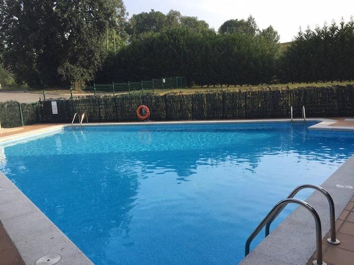 Apartamento con piscina cerca de Santander y playa