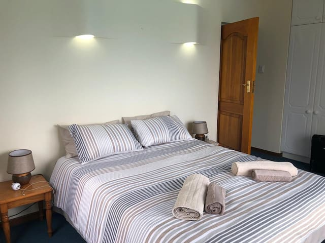 Wookey Hole Pool deck double bedroom