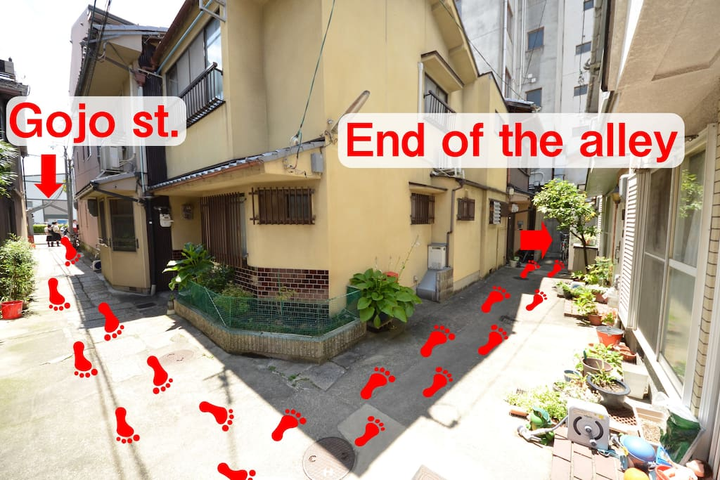 My place is end of the alley
