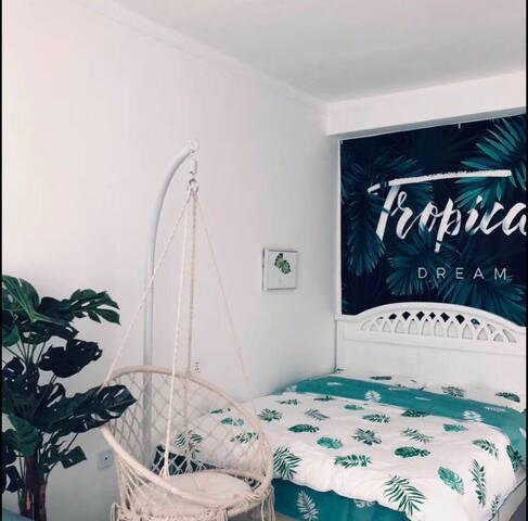 绿植主题民宿独立一居室