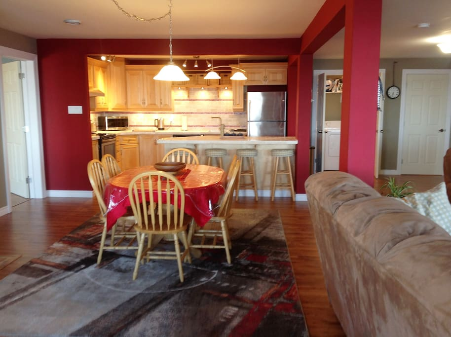 Kitchen dining living room