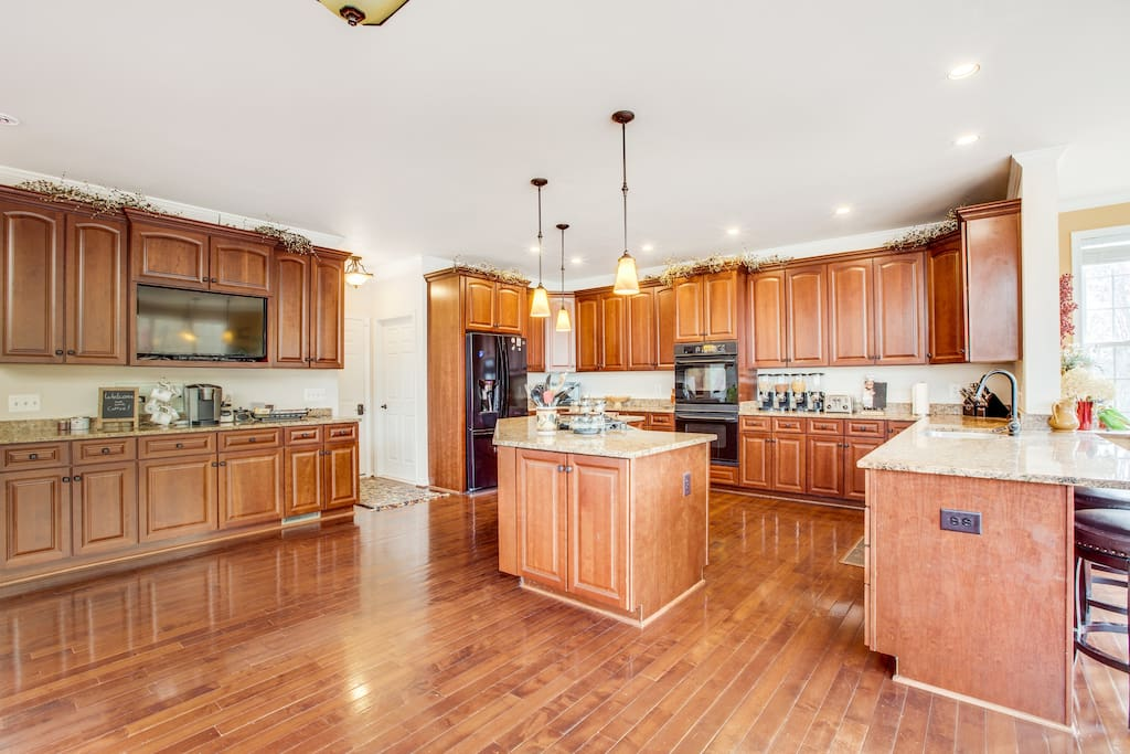 Prepare a meal or mingle with other guests in this gourmet kitchen.