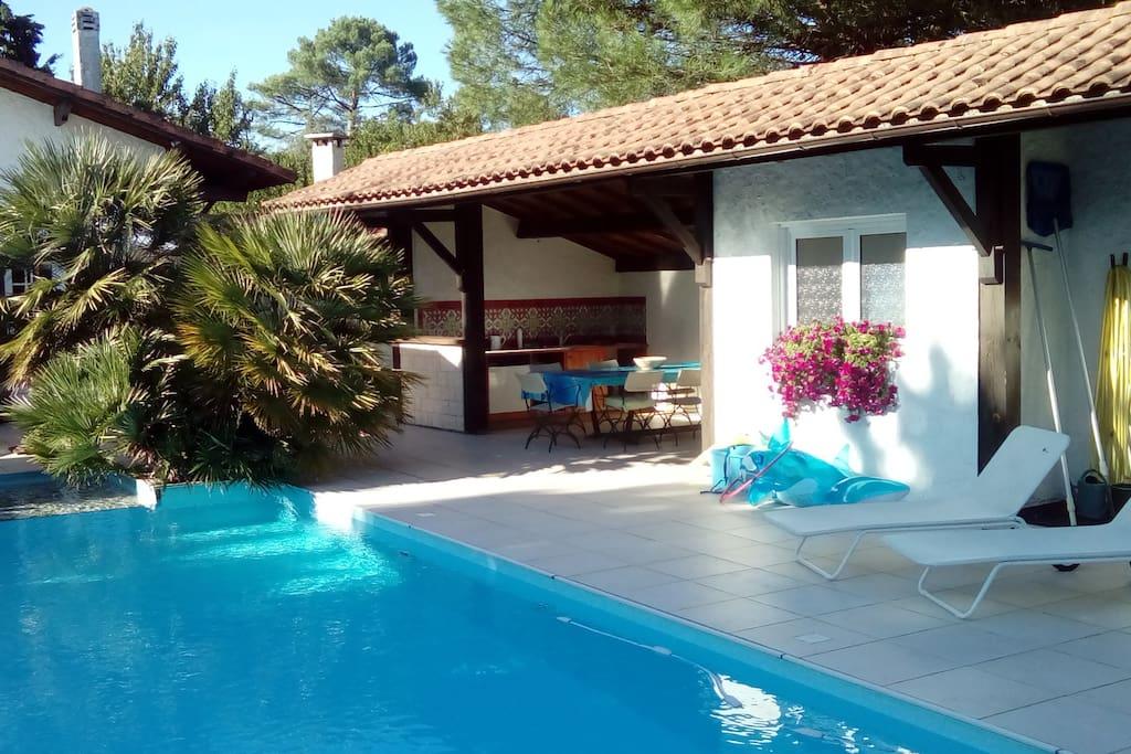 Grande landaise 12 pers avec piscine andernos maisons - Piscine andernos les bains ...