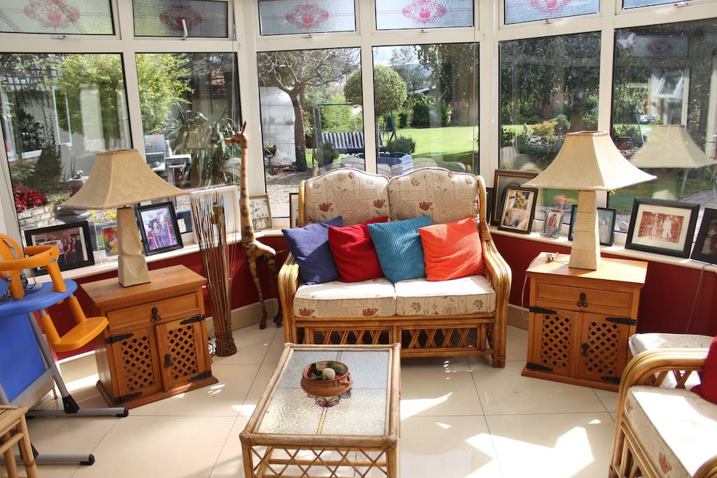 If the weather is poor enjoy the garden from the conservatory