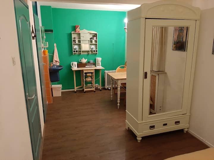 Kleurrijk  2-kamer appartement met privé opgang