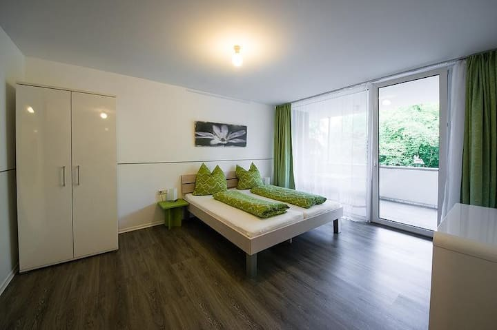 """Modern Apartment 4 in Apartment House """"Aach Apart"""" in Quiet Area near Lake Constance with Wi-Fi & Balcony; Parking Available"""
