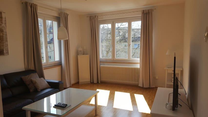 Sunny flat with balkony near Goldbrunnenplatz - Zürich - Apartment