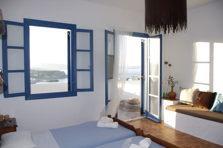 7 Olives Apts, amazing sea view - Almyrida - Apartemen