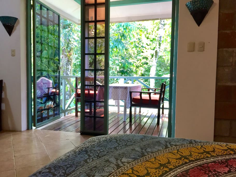 master room opens up to jungle view balcony