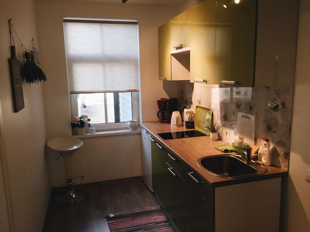 Cozy apartment next to Coach Station, near airport