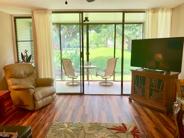 View from your fully stocked kitchen to the screened in lanai