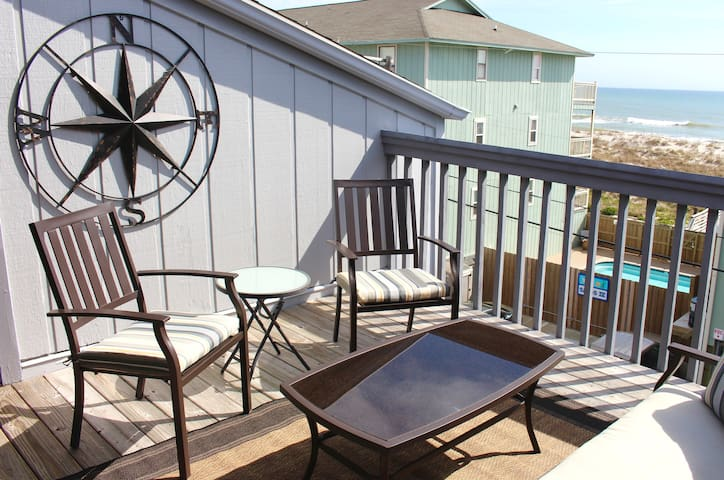 Top Story Double Balcony, steps from the beach