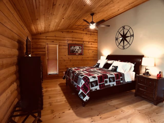 """Large Master Suite we call the """"Bear Room"""""""