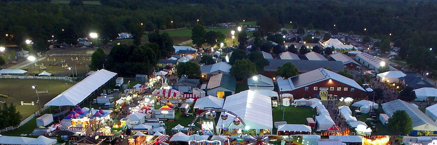 NJ State Fair and other activities at the fairgrounds just 20 minutes away!