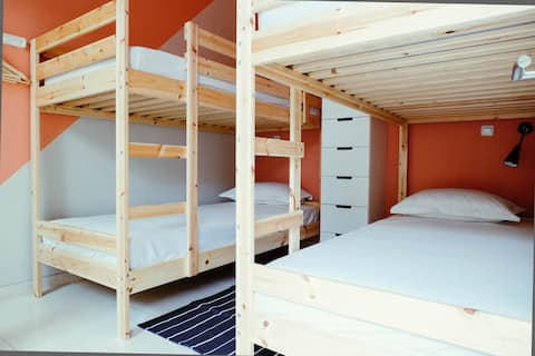 A7: Single Bed, Female Dorm – 4 Single Bunkbed