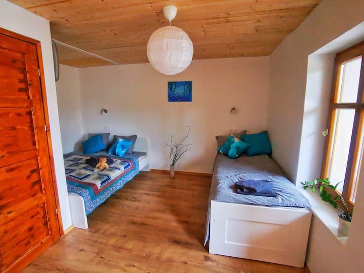 Nefelejcs private bedroom at Borsika Napterasz
