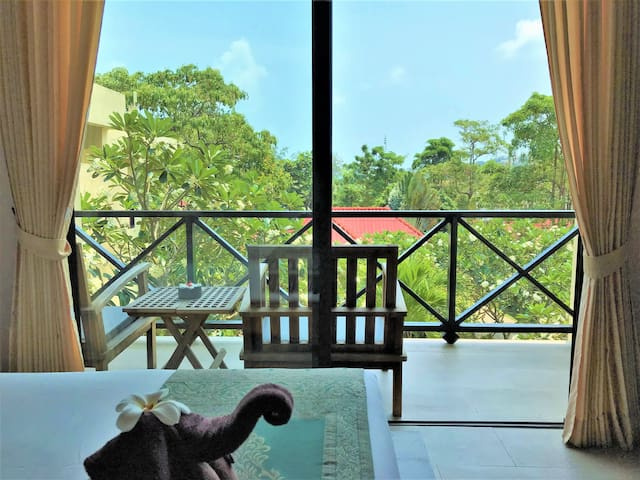 Resort Room with Balcony 300m from the Beach