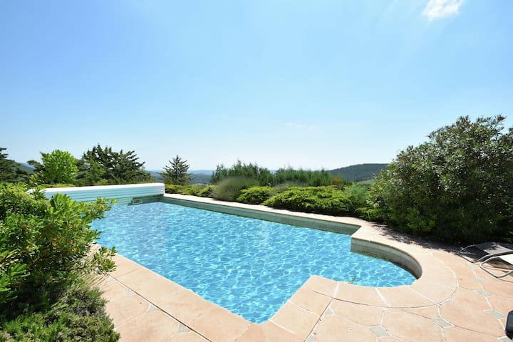 Beautiful villa on a hill, wide views of the environment.