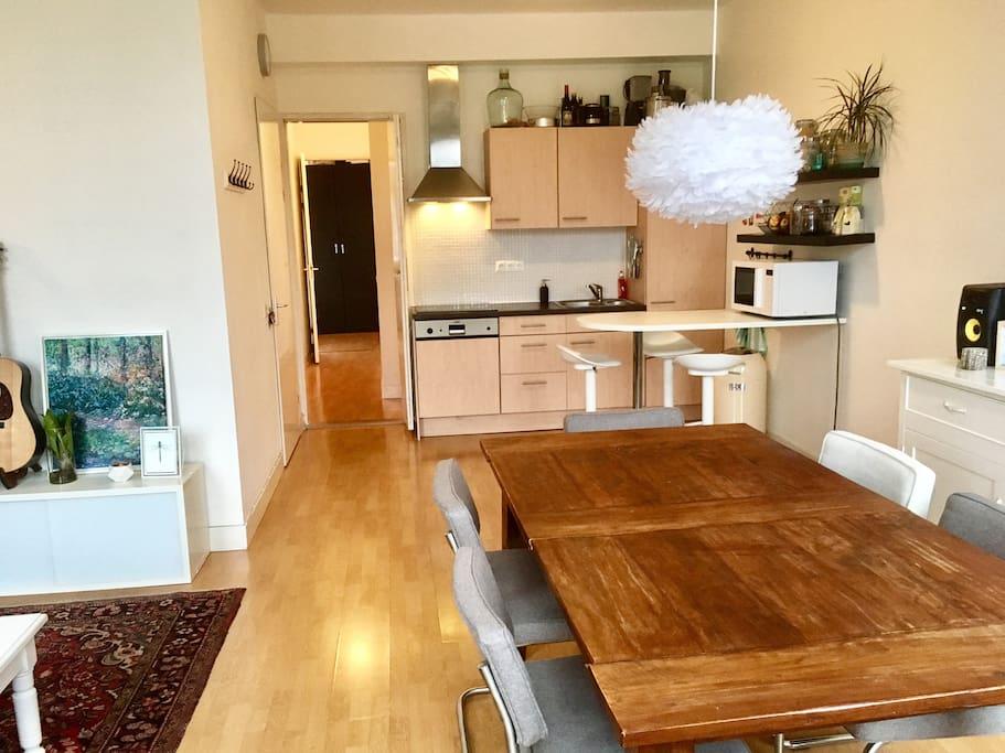 Livingroom, kitchen