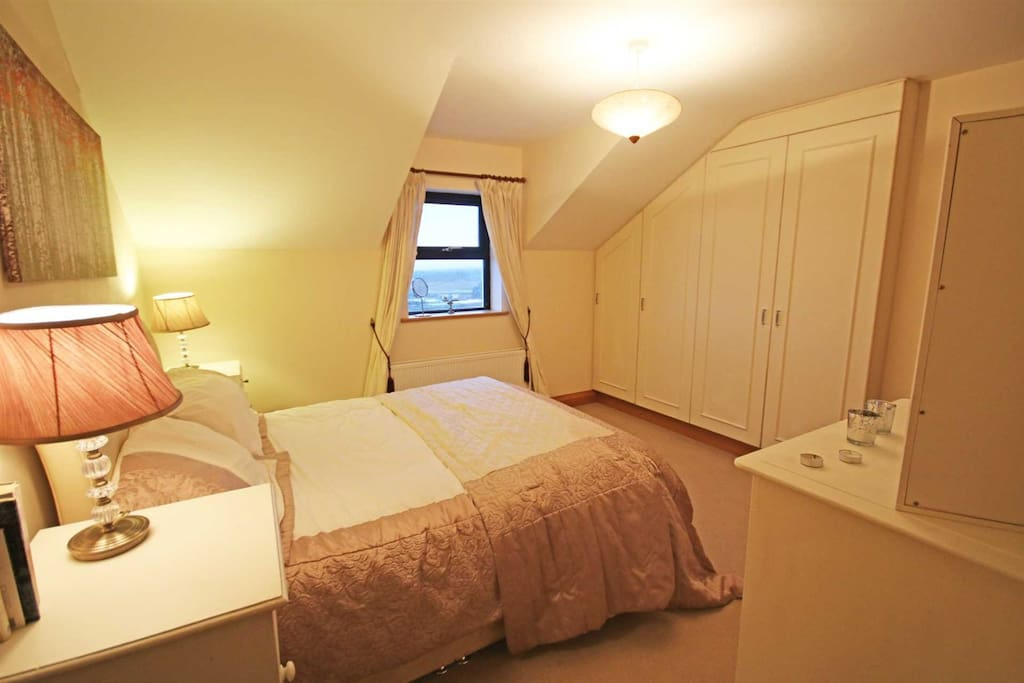 King size ensuite with views ove Lough Foyle