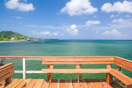 Sunny Side Beach Bungalow- 400' dock divers dream! - Sandy Bay