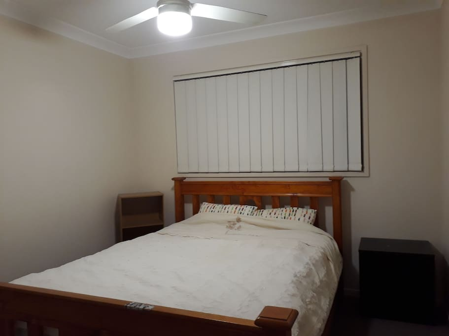 This is the Guest's room with a Queen Bed Extra Floor Mattress and downstairs Sofa is also available for extra guests.