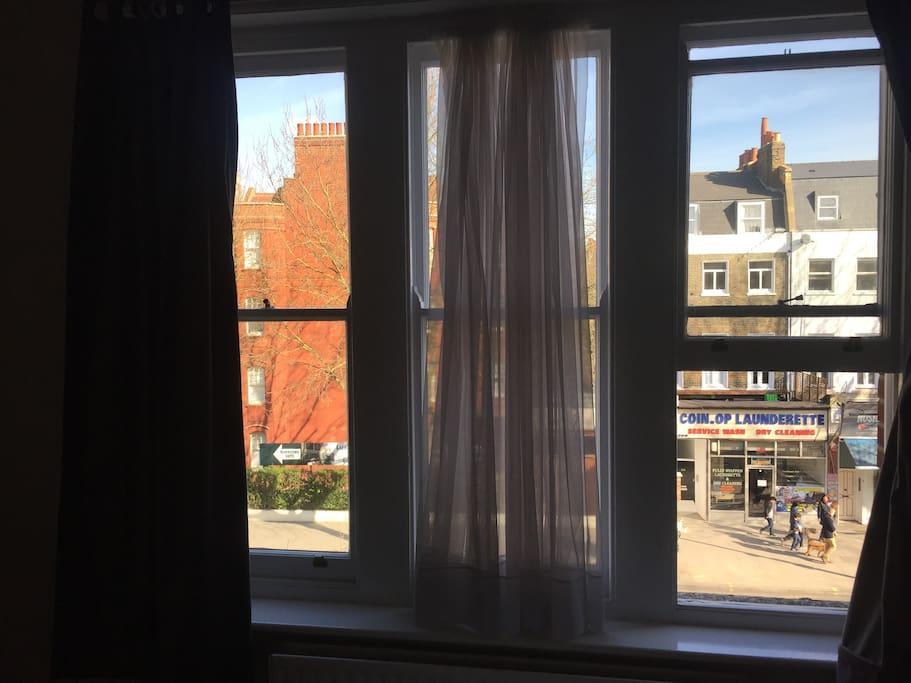 Riving room window